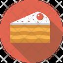 Cake Piece Cherry Icon