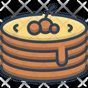 Pancake Raspberry Pastry Icon