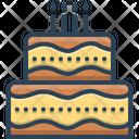 Cake Birthday Candle Icon