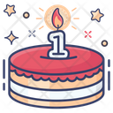1st Birthday Cake Cake Cream Cake Icon
