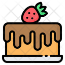 Cake Strawberry Chocolate Icon