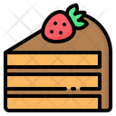Cake Strawberry Chocolate Icon