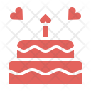 Cake Valentines Day Icon