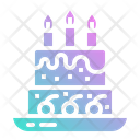 Cake Birthday Candles Icon