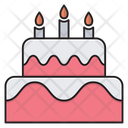 Cake Birthday Newyear Icon