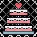 Cake Love Wedding Icon