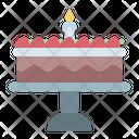 Cake Brownies Birthday Icon