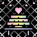 Cake Valentine Heart Icon