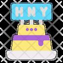Cake New Year Celebration Icon