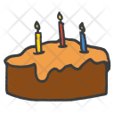 Cake Candle Chocolate Icon