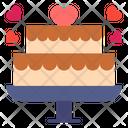 Cake Sweet Heart Icon