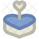 Cake Heart Shaped Icon