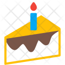Cake Piece Candle Icon
