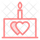 Cake Candle Love Icon