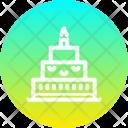 Cake New Year Icon