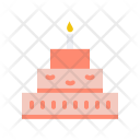 Cake New Year Icon