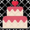 Valentine Cake Birthday Icon