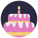 Cake Candle Birthday Icon