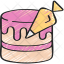 Cake Piping Baked Cooking Icon