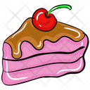 Cherry Cake Cake Slice Chocolate Cake Icon