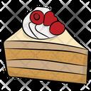 Cake Slice Strawberry Cake Cake Piece Icon