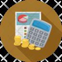 Calc Calculator Coins Icon
