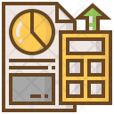 Calculate Charts Shopping Icon