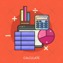 Calculate Analytics Graph Icon