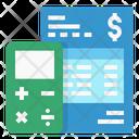 Calculate Fee Money Calculate Icon