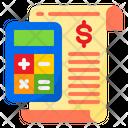 Calculating Receipt Bill Icon