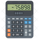 Calculator Adding Machine Number Cruncher Icon