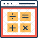 Calculation Online Web Icon