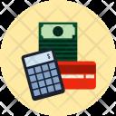 Calculator Creditcard Cash Icon
