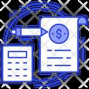 Tax Calculation Invoice Calculation Icon