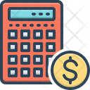 Calculation Banking Editable Icon