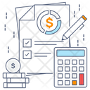 Calculations Accounting Auditing Icon