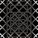 Calculator Design Stationery Icon