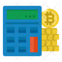 Calculator Bitcoin Coin Icon
