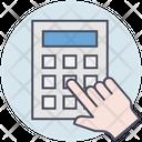 Business Calculator Hand Icon