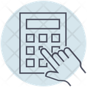 Business Calculator Hand Icon