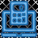 Laptop Calculator Tools Account Icon