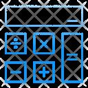 Calculator Calc Math Icon