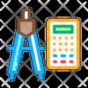 Calculator Dividers Compass Icon