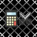 Calculator Scissor Study Icon