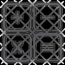 Calculation Calculator Keys Math Symbols Icon