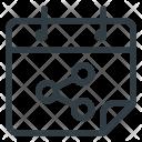 Calendar Connection Network Icon