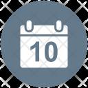 Calendar Circle Date Icon