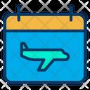 Calendar Schedule Flight Timing Icon