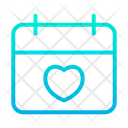 Valentines Day Lovers Day Calender Icon
