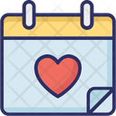 Calendar Heart Calendar Valentine Day Icon